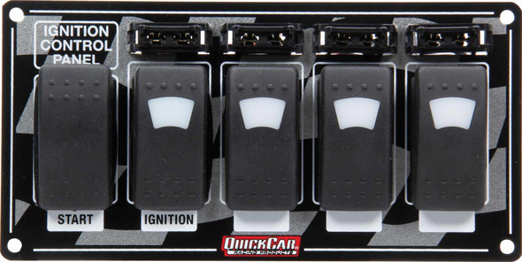 52-164 Ignition Panel w/ Rocker Switches Fuses & Lights Quickcar Racing Products