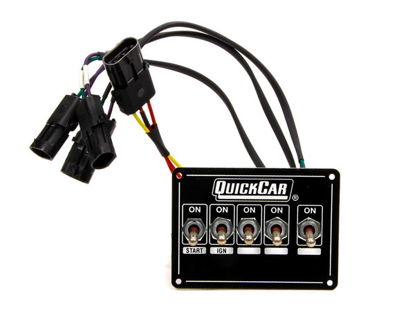 Extreme Dual Magnetic Pickup 5 Switch Panel  50-7714 Quickcar Racing Products