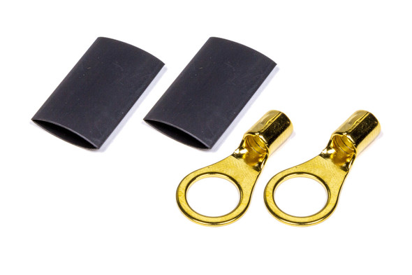 "57-474 3/8"" Ring Terminal 8-10 Ga Pair with heat shrink Quickcar Racing Products"