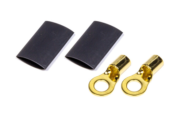 """57-481 1/4"""" Ring Terminal 8 Ga. Pair with heat shrink Quickcar Racing Products"""