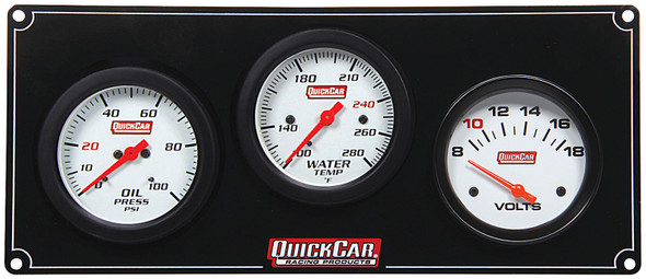 61-7017 3 Gauge Extreme Panel /Volts Quickcar Racing Products