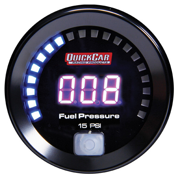 67-000 Digital Fuel Pressure Gauge 0-15 Quickcar Racing Products