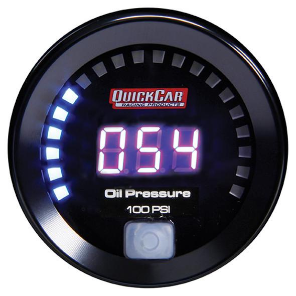 67-003 Digital Oil Pressure Gauge 0-100 Quickcar Racing Products