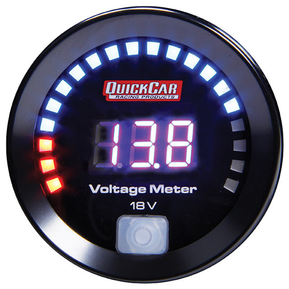 67-007 Digital Volt Gauge 8-18 Quickcar Racing Products