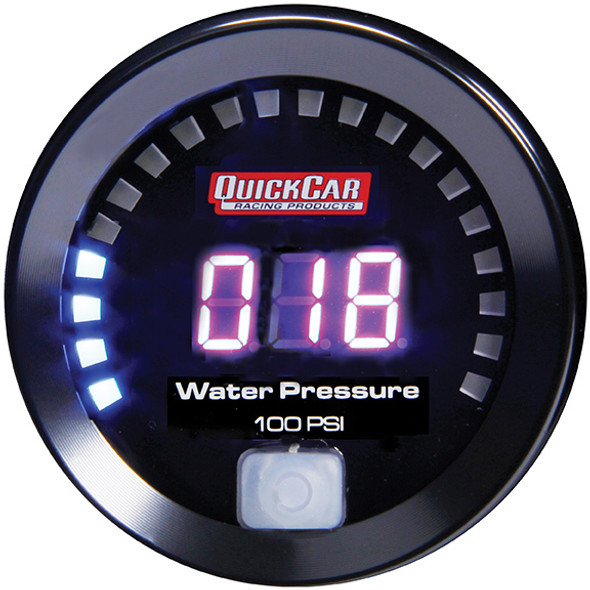67-008 Digital Water Pressure Gauge 0-100 Quickcar Racing Products