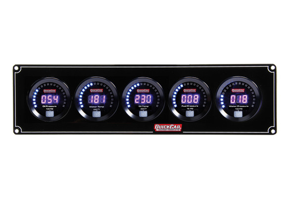 67-5036 Digital 5-Gauge Panel Quickcar Racing Products