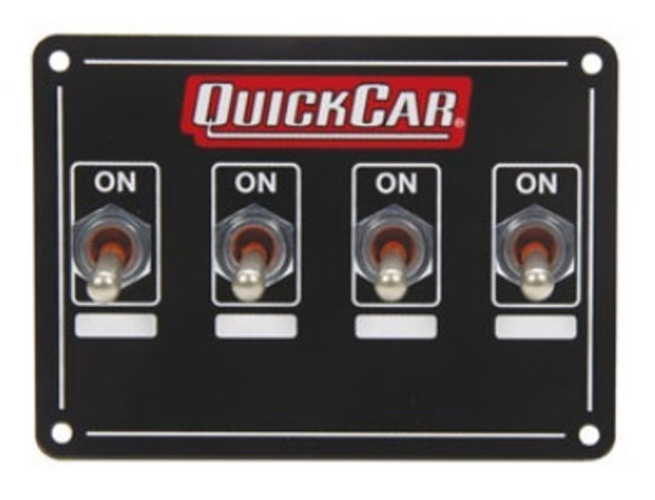 50-719 Accessory Panel 4 Switch Weatherproof Quickcar Racing Products