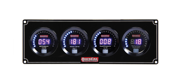67-3042 Digital 3-1 Gauge Panel OP/WT/FP w/ Tach Quickcar Racing Products
