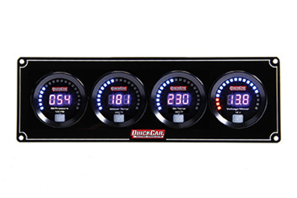 67-4027 Digital 4-Gauge Panel OP/WT/OT/Volts Quickcar Racing Products