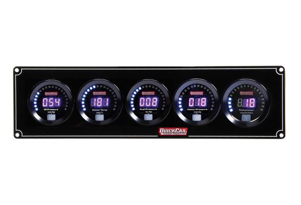 67-4056 Digital 4-1 Gauge Panel OP/WT/FP/WP w/ Tach Quickcar Racing Products