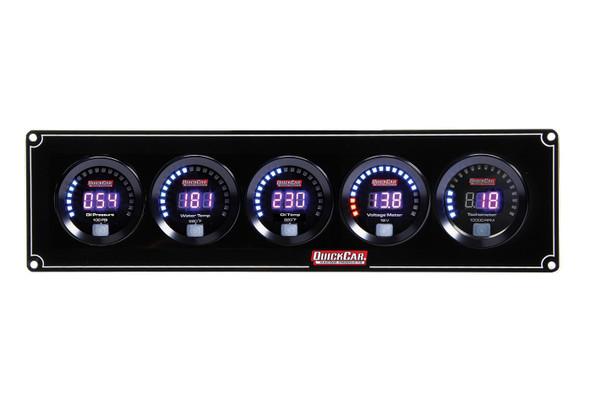 67-4057 Digital 4-1 Gauge Panel OP/WT/OT/Volt w/ Tach Quickcar Racing Products