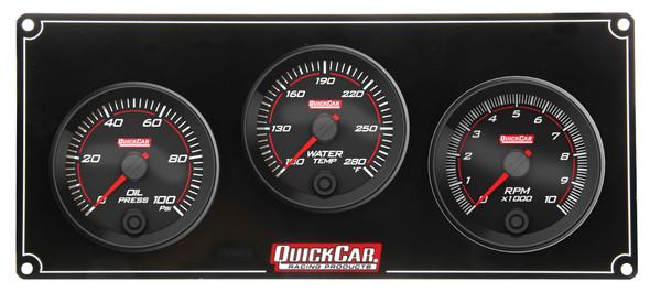 69-2231 Redline 2-1 Gauge Panel OP/WT w/ Recall Tach Quickcar Racing Products