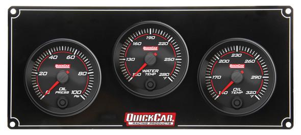 69-3011 Redline 3 Gauge Panel OP/WT/OT Quickcar Racing Products