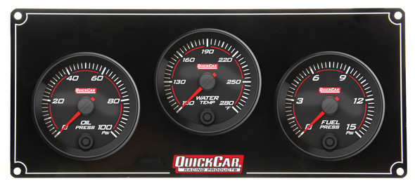 69-3012 Redline 3 Gauge Panel OP/WT/FP Quickcar Racing Products