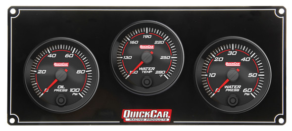 69-3016 Redline 3 Gauge Panel OP/WT/WP Quickcar Racing Products