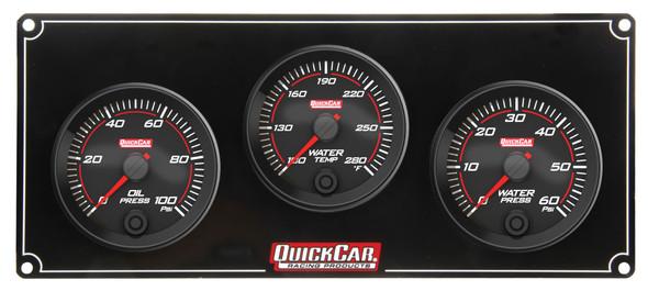 69-3016 Redline 3 Gauge Panel OP/WT/WP Quickcar Racing Products