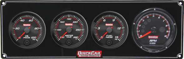 69-3042 Redline 3-1 Gauge Panel OP/WT/FP w/ Recall Tach Quickcar Racing Products