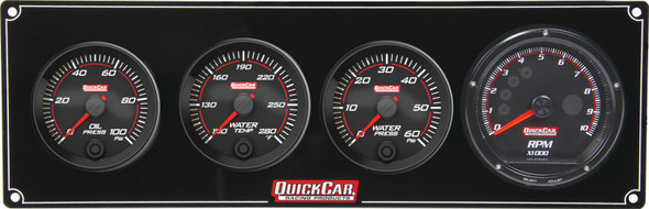 69-3046 Redline 3-1 Gauge Panel OP/WT/WP w/ Recall Tach Quickcar Racing Products