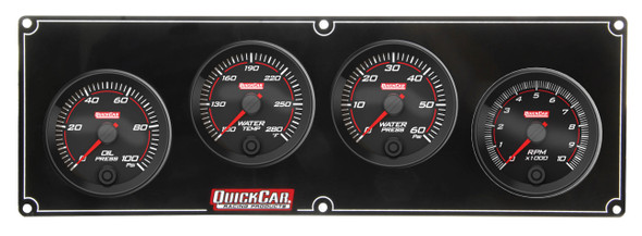 69-3246 Redline 3-1 Gauge Panel OP/WT/WP w/ 2-5/8in Tach Quickcar Racing Products