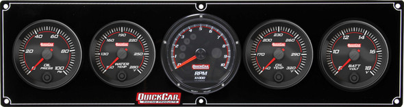69-4057 Redline 4-1 Gauge Panel OP/WT/OT/Volt w/ Recall Quickcar Racing Products