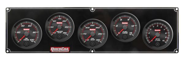69-4251 Redline 4-1 Gauge Panel OP/WT/OT/FP w/ 2-5/8 Tach Quickcar Racing Products