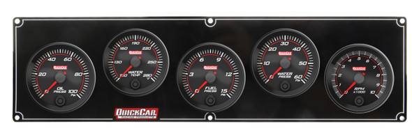 69-4256 Redline 4-1 Gauge Panel OP/WT/FP/WP w/ 2-5/8 Tach Quickcar Racing Products