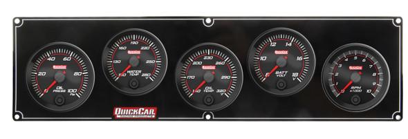 69-4257 Redline 4-1 Gauge Panel OP/WT/OT/Volt w/ 2-5/8 Ta Quickcar Racing Products