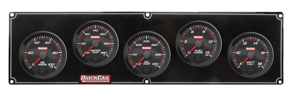 69-5037 Redline 5 Gauge Panel OP/WT/OT/FP/VOLT Quickcar Racing Products