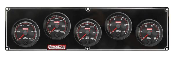 69-5037 Redline 5 Gauge Panel OP/WT/OT/FP/VOLT Quickcar Racing Products