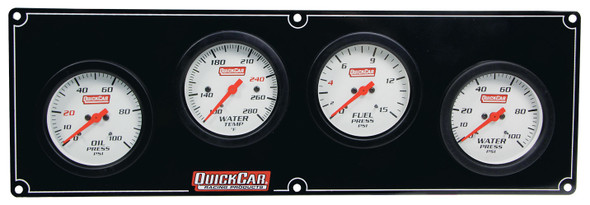 Extreme 4 Gauge Panel OP/WT/FP/WP 61-7026 Quickcar Racing Products