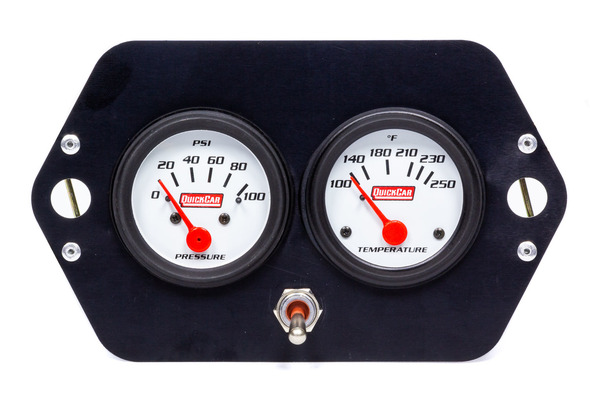 Gauge Panel 2in Open Wheel w/ Switch QRP61-2205 Quickcar Racing Products
