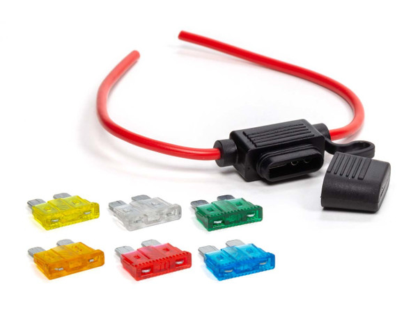 In-Line ATC Fuse Holder 12 Gauge QRP50-955 Quickcar Racing Products