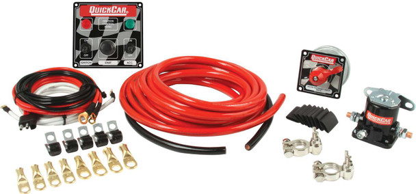 4 AWG Wiring Kit w/ 50-022 Switch Panel 50-231 Quickcar Racing Products