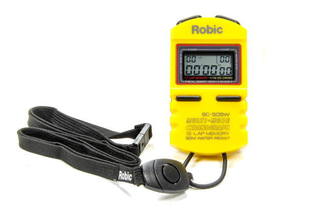 51-039 Stopwatch Yellow 12 Lap Memory Quickcar Racing Products