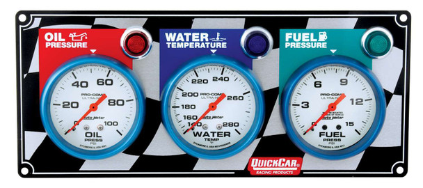 61-0621 3 Gauge Panel Quickcar Racing Products
