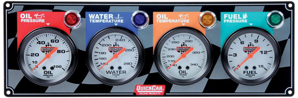 61-6021 4 Gauge Panel Quickcar Racing Products