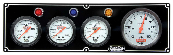61-67413 3-1 Gauge Panel w/ Tach Black Quickcar Racing Products