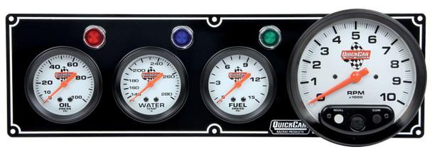 61-6742 3-1 Gauge Panel w/ Tach Black Quickcar Racing Products