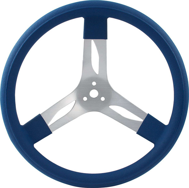 68-0012 15in Steering Wheel Aluminum Blue Quickcar Racing Products