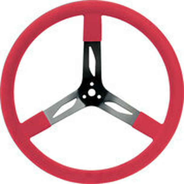 "68-0041 Steel Steering Wheel 17"" Red Quickcar Racing Products"