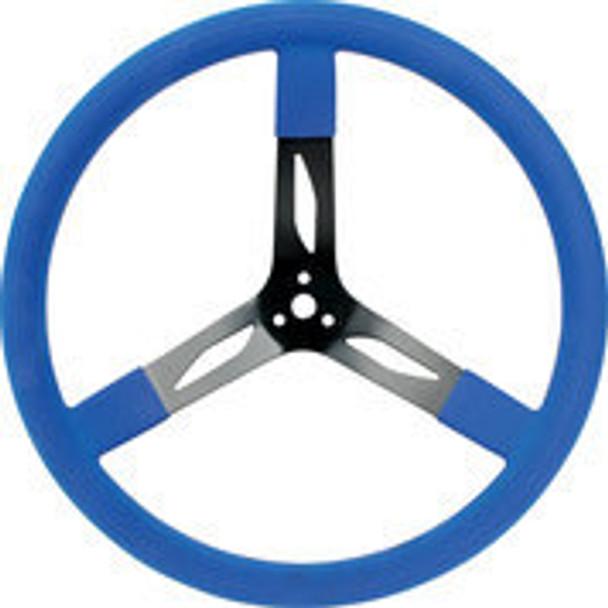 "68-0042 Steel Steering Wheel 17"" Blue Quickcar Racing Products"