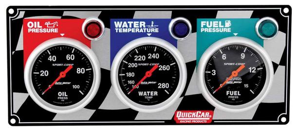 3 Gauge Panel Sport Comp. 61-0211 Quickcar Racing Products