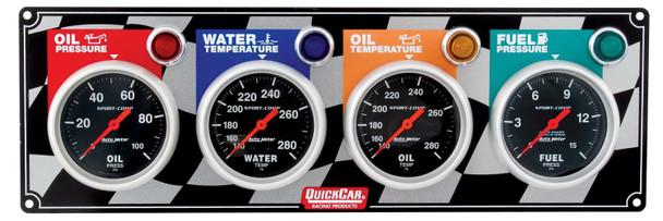 4 Gauge Panel 61-0301 Quickcar Racing Products