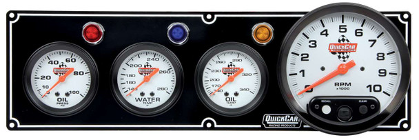 61-6741 3-1 Gauge Panel w/ 5in Tach Black Quickcar Racing Products