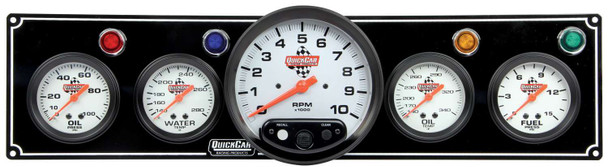 61-6751 4-1 Gauge Panel w/ 5in Tach Black Quickcar Racing Products