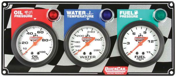 61-6012 3 Gauge Panel Quickcar Racing Products