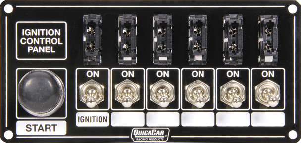 50-863 Ignition Panel Black Fused w/ Start Button Quickcar Racing Products