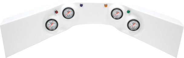 61-6024 4-Gauge Molded Dash White Quickcar Racing Products