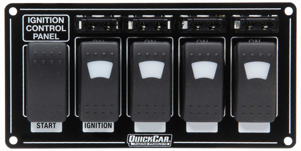 52-864 Ignition Panel w/ Rocker Switches Fuses & Lights Quickcar Racing Products