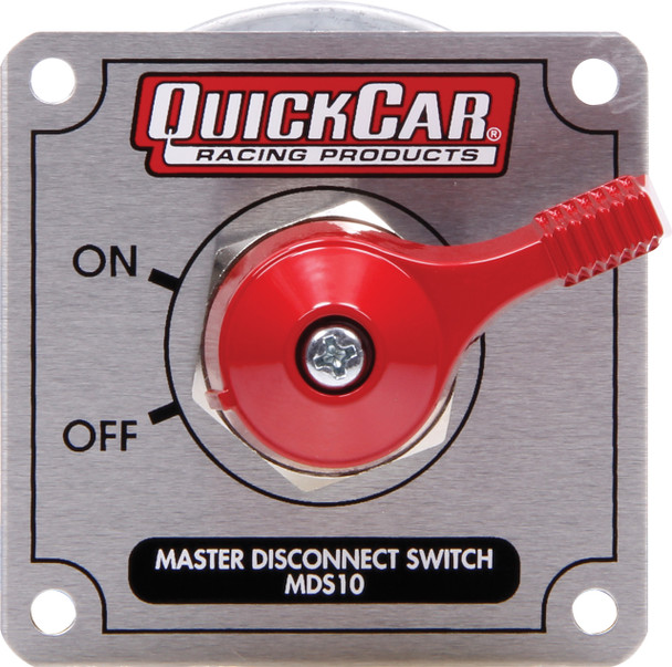 55-023 Master Disconnect High Amp 4 Post Silver Plate Quickcar Racing Products